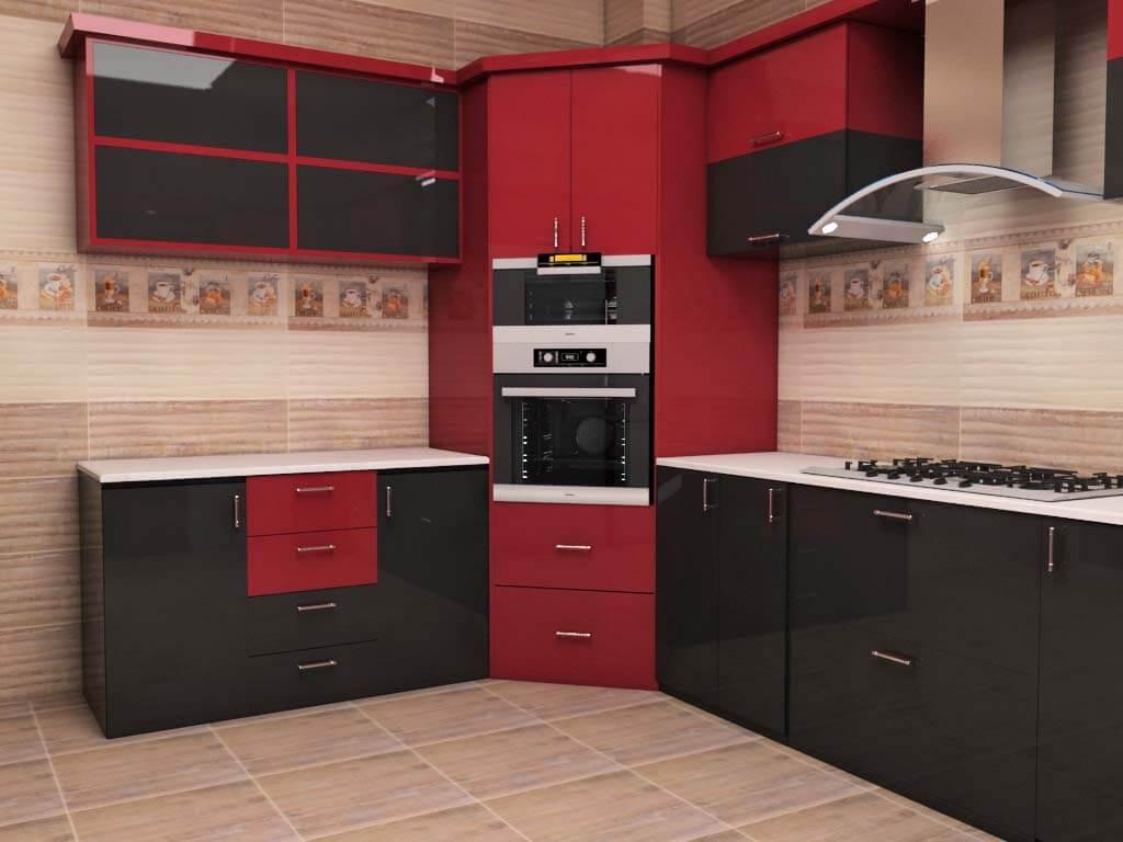 علبة تخزين الزاوية تعتبر احسن مكان للميكرويف فى المطبخ إذا كانت مساحته واسعة وهى غير مستغلة